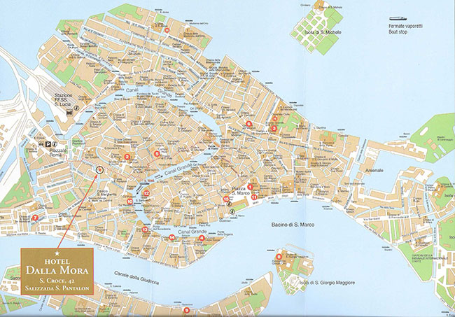 hotel dalla mora, Venice full map.